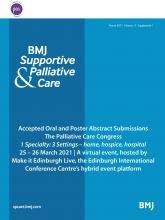BMJ Supportive & Palliative Care: 11 (Suppl 1)