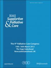 BMJ Supportive & Palliative Care: 2 (Suppl 1)