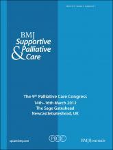 BMJ Supportive & Palliative Care: 2 (Suppl 1)