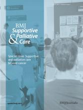 BMJ Supportive & Palliative Care: 3 (1)
