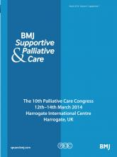 BMJ Supportive & Palliative Care: 4 (Suppl 1)