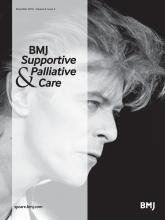 BMJ Supportive & Palliative Care: 6 (4)