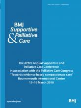 BMJ Supportive & Palliative Care: 8 (Suppl 1)